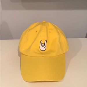 Yellow rock n roll hat